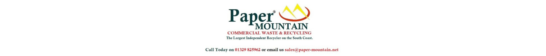 Paper Mountain Commercial Waste & Recycling - The largest independent recycler on the south coast.